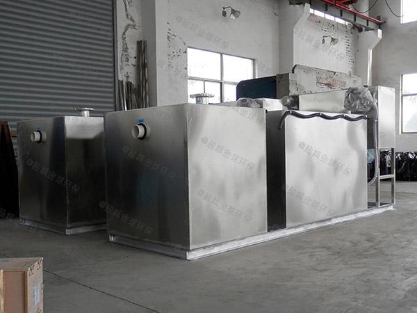 火锅店大型埋地式半自动气浮油水分离器的选择