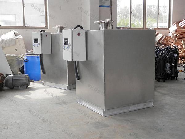 餐饮环保大地下组合式下水隔油设备需要哪些设备