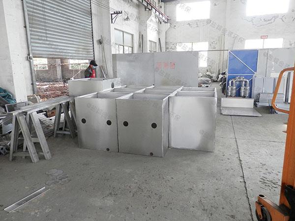 后厨中小型地下室自动刮油水与油分离机器检验