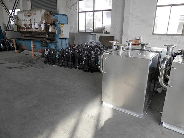 餐饮专用大型地下半自动隔油除油设备安装图片