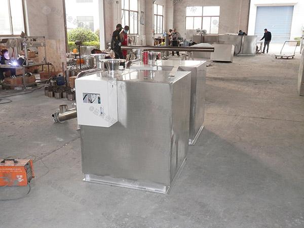餐饮行业大地面式半自动潲水油水分离器安全