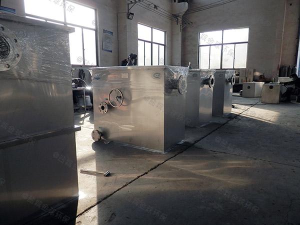 食堂地面式中小型自动除渣油水分离器提升设备