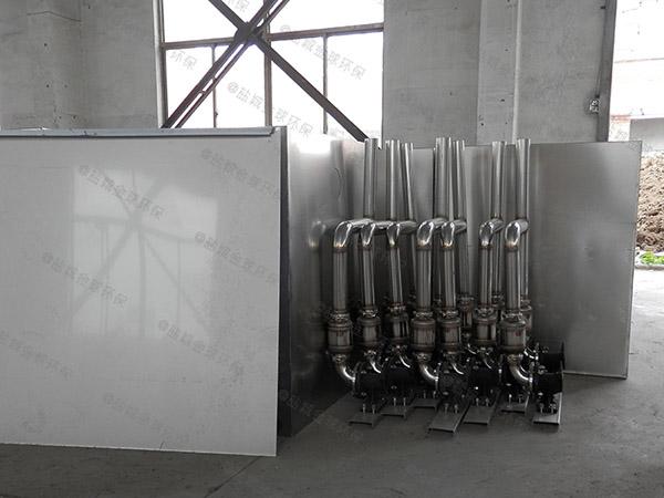 工地食堂大地面式自动提升油水分离污水处理设备是什么东西