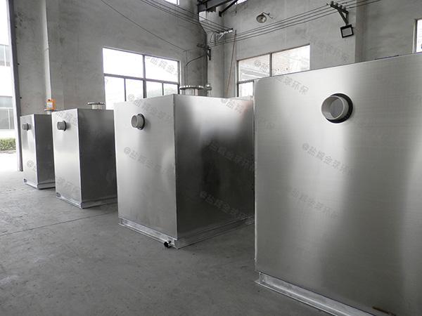 食堂用室内大型全自动一体化隔油提升装置制作方法