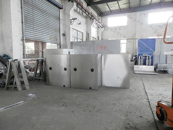 单位食堂户外中小型自动除渣油水分离污水处理设备型号选择