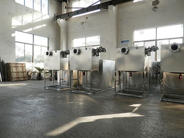 餐饮商户大型地上半自动油水分离处理设备是成套的还是拼装的