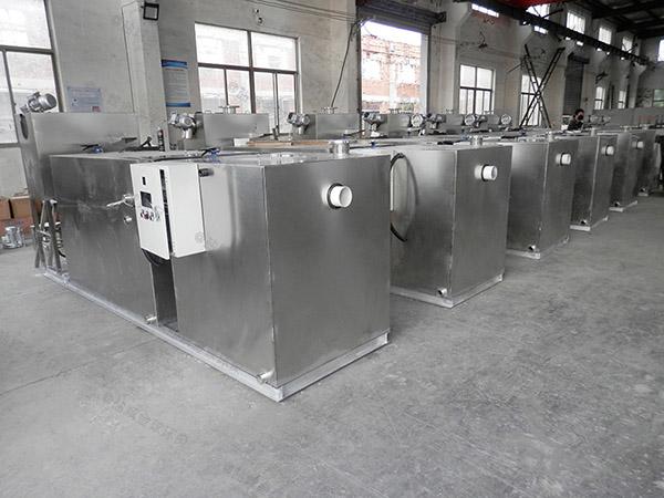 餐饮类地面式半自动气浮式隔油池处理效率
