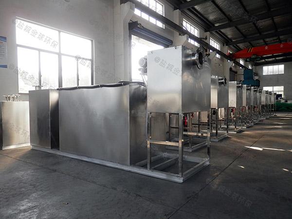 餐饮业埋地式机械油水分离器与隔油池的构造