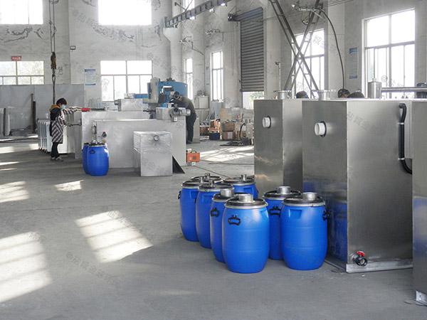 后厨地面式大型组合式气浮式自动隔油器型号
