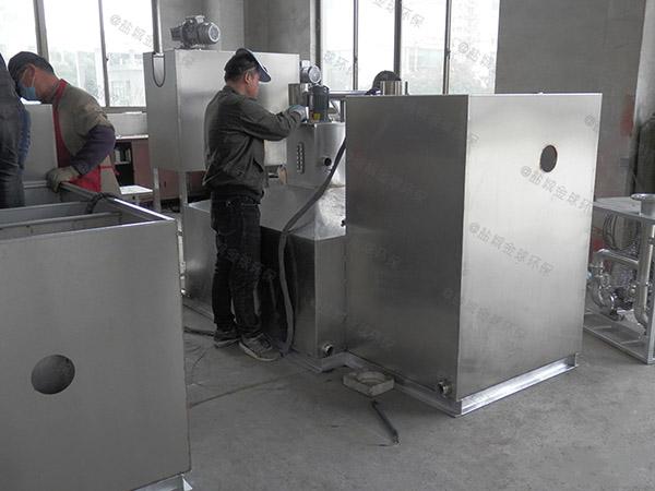 饮食业户外中小型半自动不锈钢隔油池用法