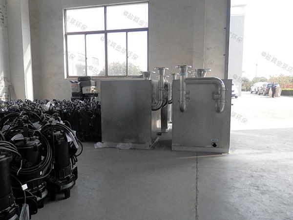 食堂用中小型地下式移动排污隔油池计算