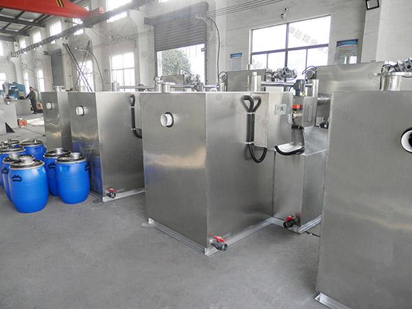 厨余大地下室自动排水污水提升及隔油设备原理图