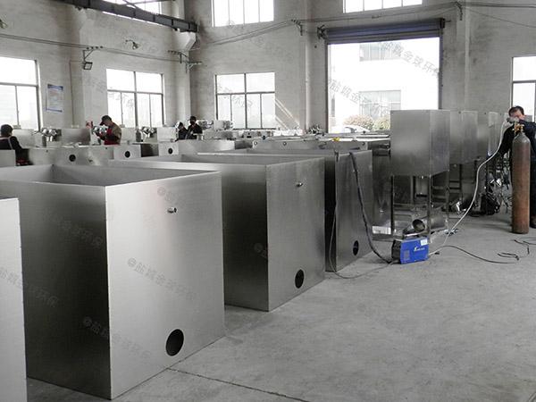 饭馆大埋地自动排水隔油池提升设备怎么安装图