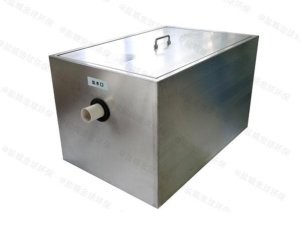 商用地面式简单油脂分离设备安装