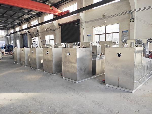 专业火锅店100人密闭式油水分离器和隔油器