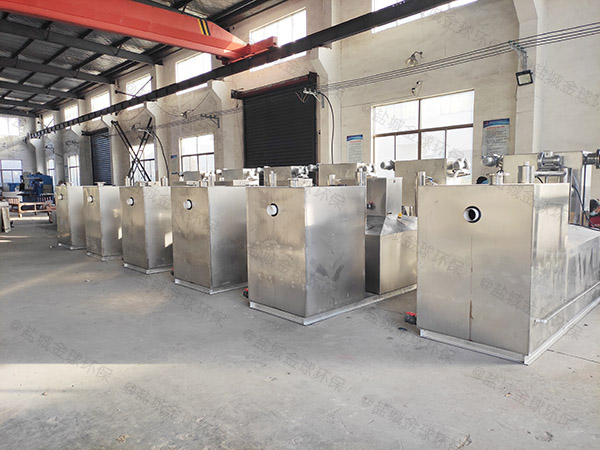 专业商场餐饮环保压缩空气三仓式隔油池