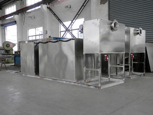 奶茶店中小型斜板潲水油水分离器排放标准