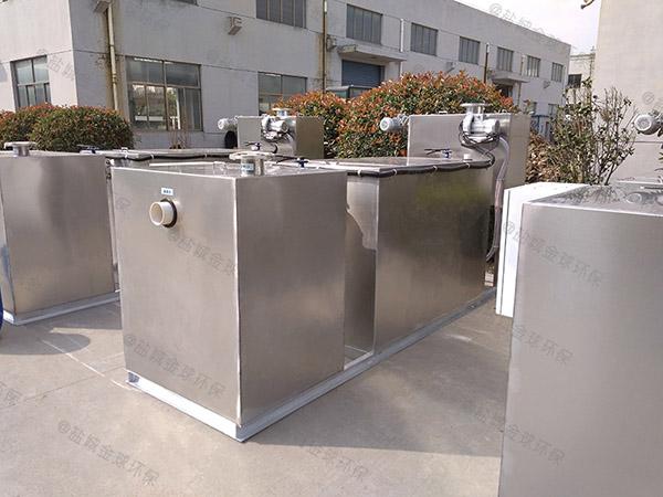 饭店排水沟密闭式电加热三仓式隔油池简介