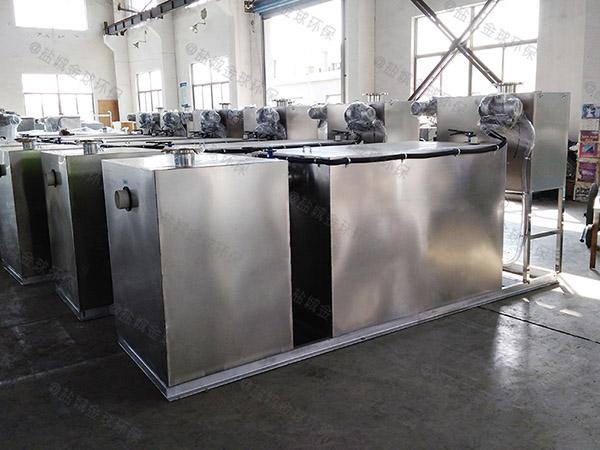 餐饮厨房水池密闭式分体式潲水油水分离器生产商电话