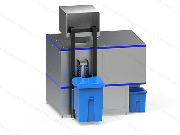 微型自动上料餐饮垃圾烘干粉碎压缩设备运行原理
