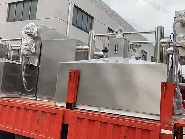 餐厅厨房密闭式隔油隔渣隔悬浮物三级油水分离器检验