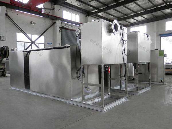 餐馆中小型斜板强排油水分离器检验