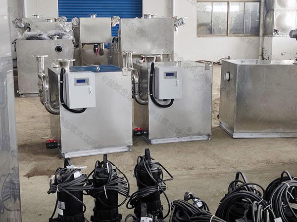 会馆地下室外置双泵污水排放提升设备能管几年