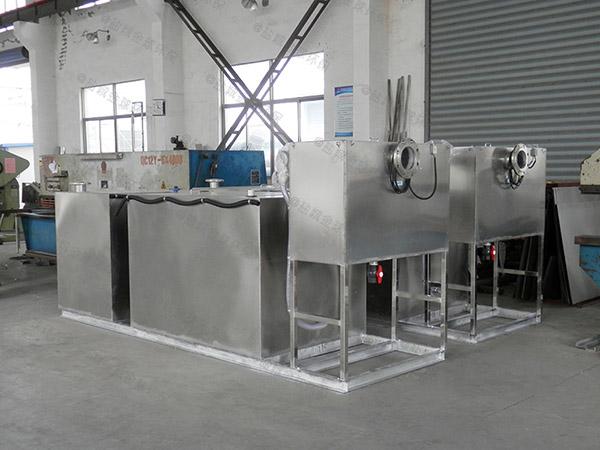 饭店厨房排水沟中小型隔悬浮物水与油分离机器如何选型