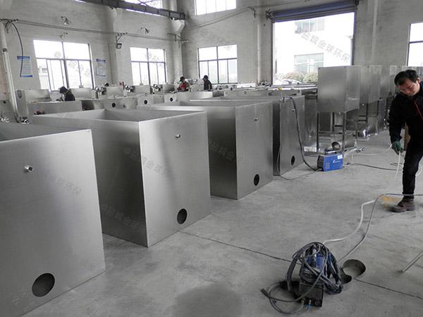 餐饮厨房水池地埋式隔油水油分离装置内部结构图
