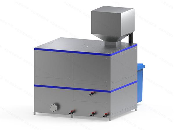 微型自动化餐厨垃圾处理设备一体机工作原理图