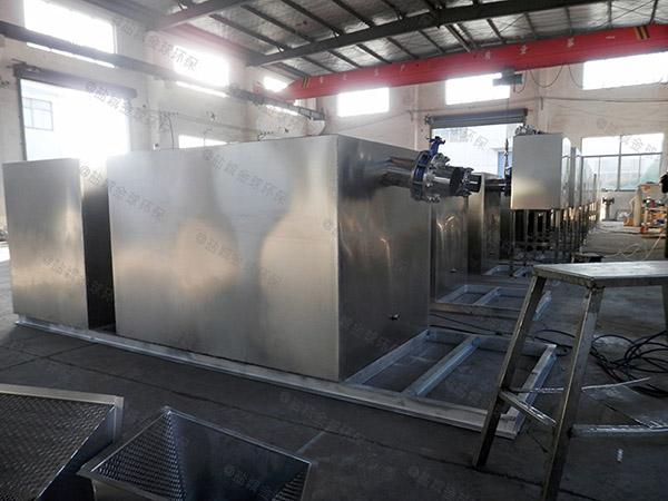 餐厅专用大型分体式三相油水分离设备结构图