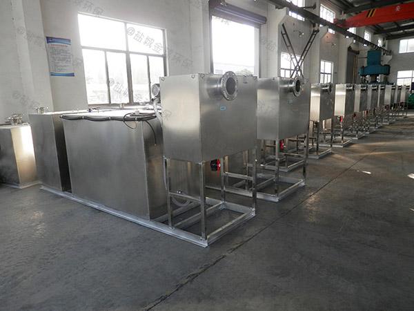 埋地式全自动食堂垃圾油水分离处理设备工作原理