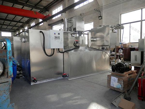 地下室无动力餐厅油水分离设备做法与尺寸图