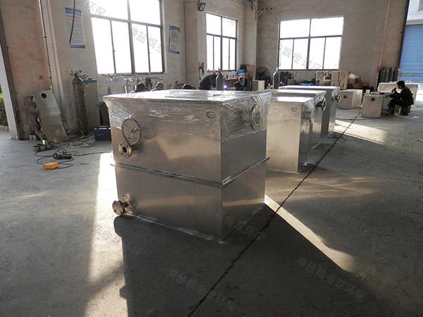 室内分体式餐厨油污水分离器做法与尺寸图